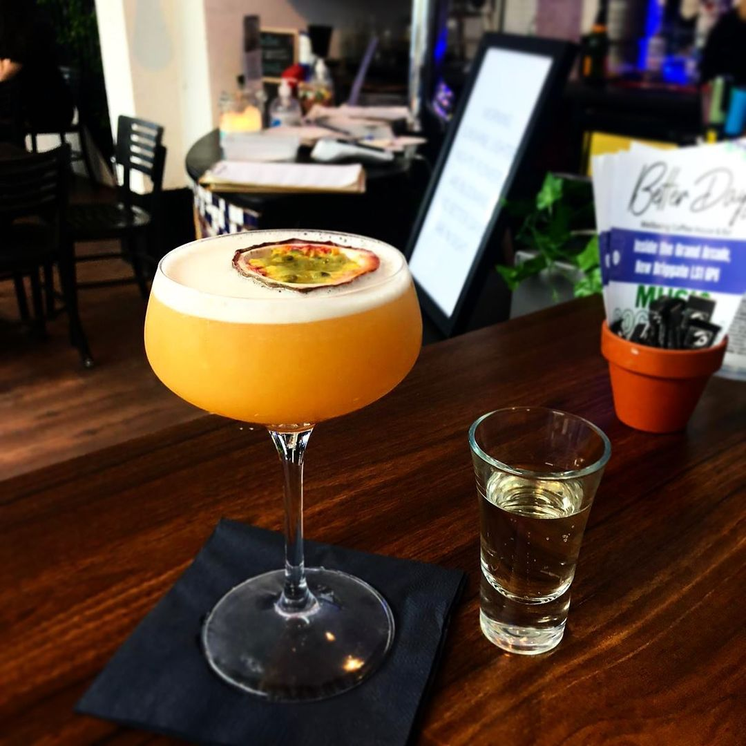 A pornstar martini, made perfectly at mental wellbeing cafe Better Days