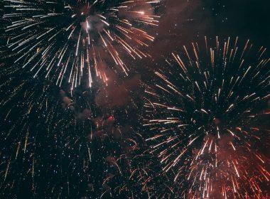 multicoloured firework display